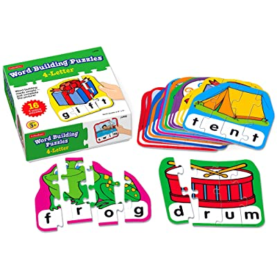 Word Building Puzzles 4-Letter: Toys & Games