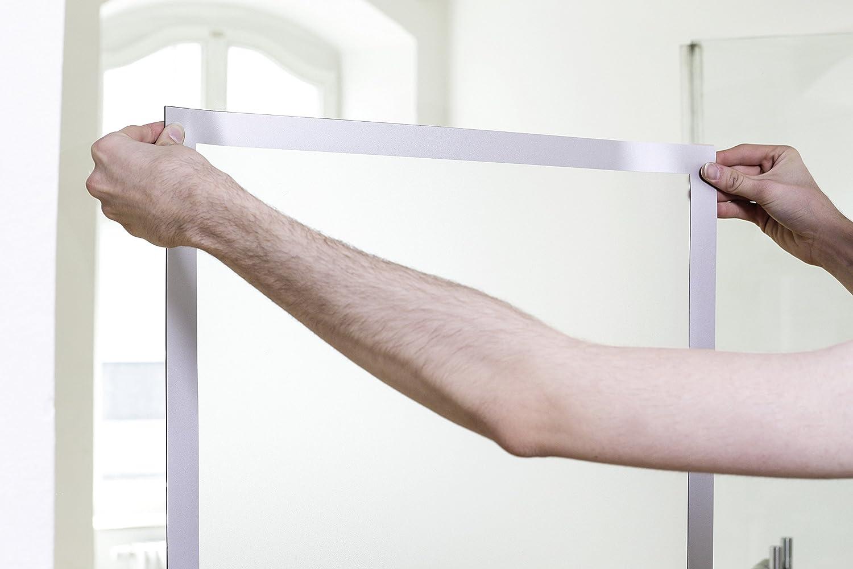 Durable Poster-Magnetrahmen - für Format 500 500 500 x 700 mm - Rahmen schwarz - Magnettasche Selbstklebende Magnetrahmen Selbstklebender Magnetrahmen 7b0822