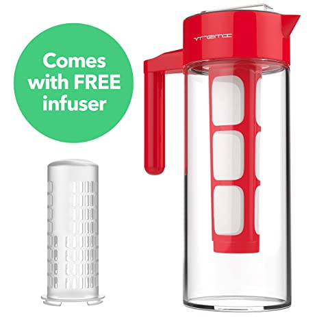 vremi cold brew iced coffee maker and tea infuser 32 ounce 1 quart glass carafe