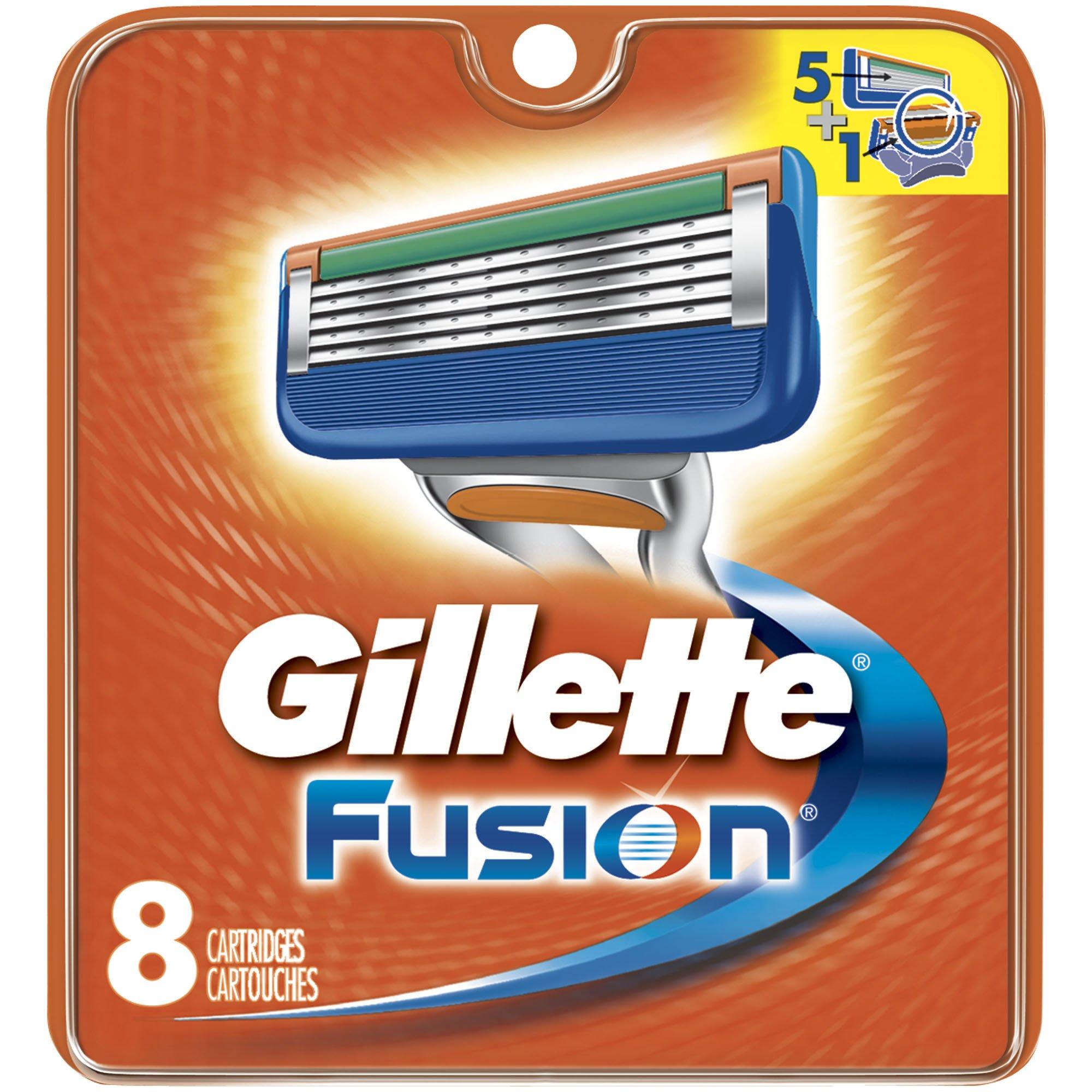 Gillette Fusion Manual Men's Razor Blade Refills, 8 Count, Mens Razors/Blades