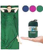 MIQIO® 2in1 Hüttenschlafsack mit durchgängigem Reißverschluss (Links oder rechts): Leichter Komfort Reiseschlafsack und XL Reisedecke in Einem - Sommer Schlafsack Innenschlafsack Inlett Inlay