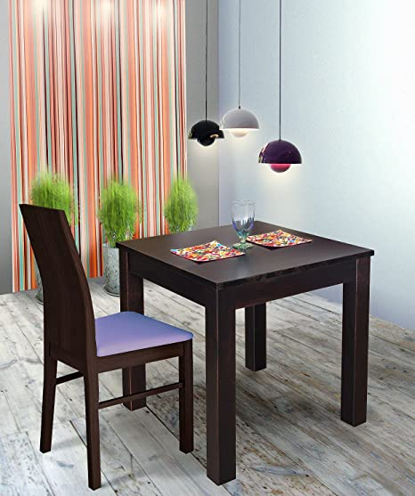 Wenge Wood Lacquered Solid Pine Dining Table Table Dallas 70 X 70 Cm