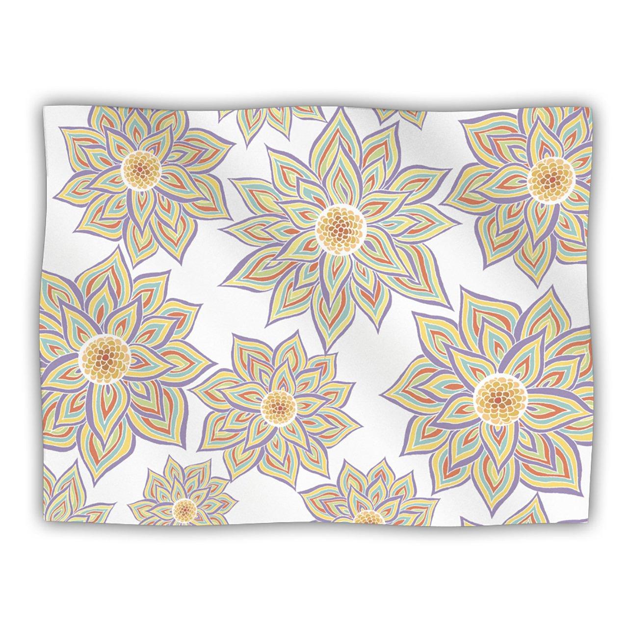 Kess InHouse Pom Graphic Design 'Floral Dance' Dog Blanket, 40 by 30-Inch