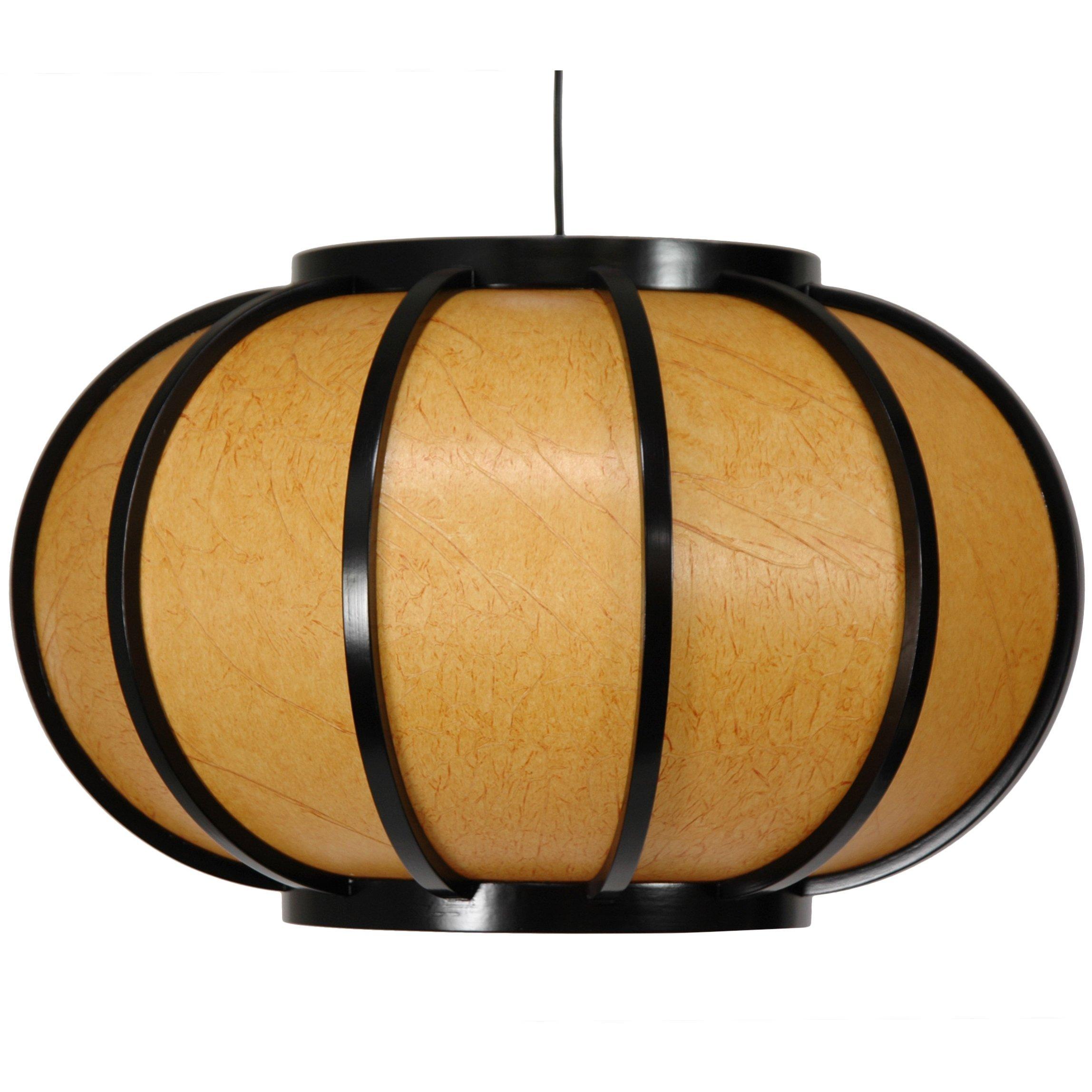 Oriental Furniture Harajuku Hanging Lantern - Black
