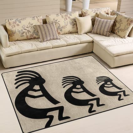 Folpply vintage indien ethnique Totem Impression Zone Tapis, Tapis ...