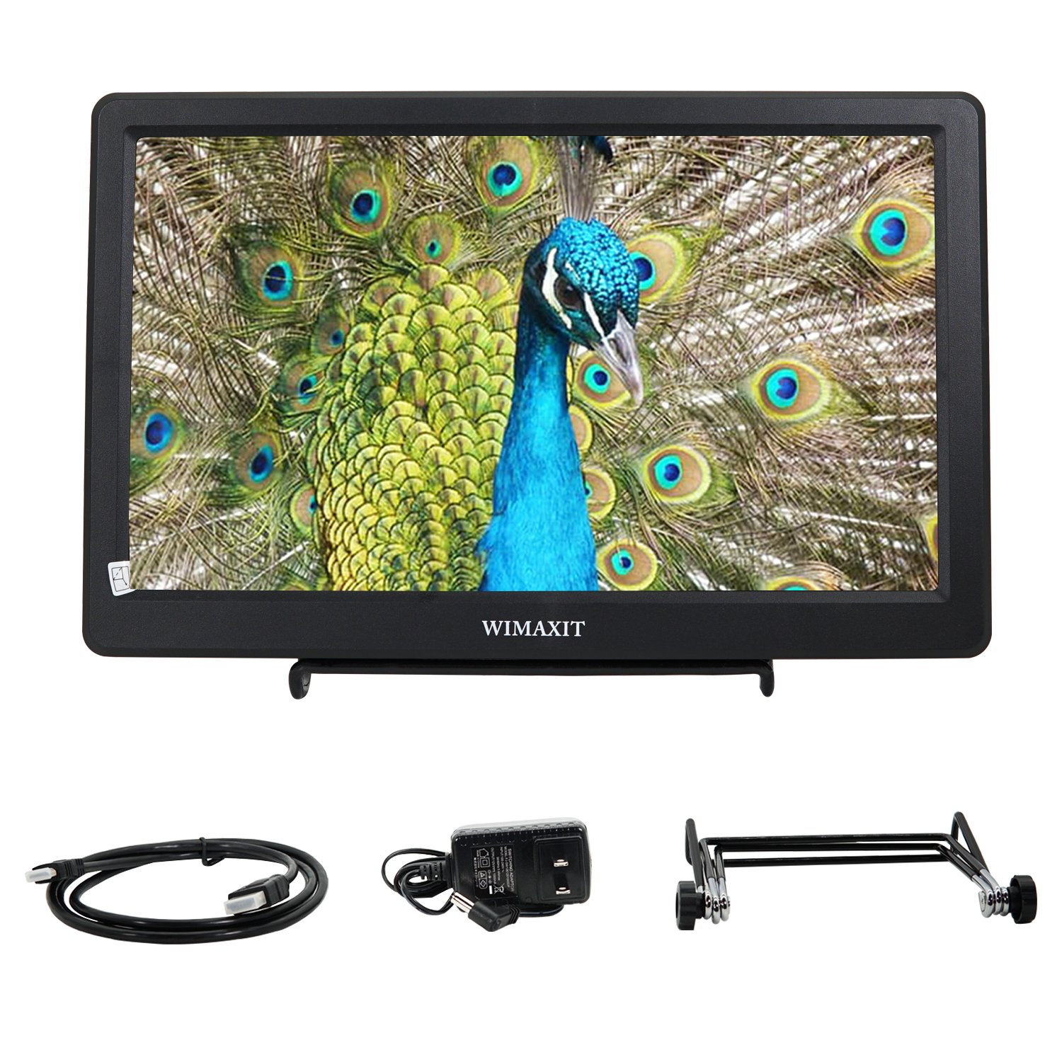 WIMAXIT 10.1 inch HDMI VGA Full HD IPS 1920x1080 Resolution Monitor for PC,Camera,CCTV Surveillance Monitors