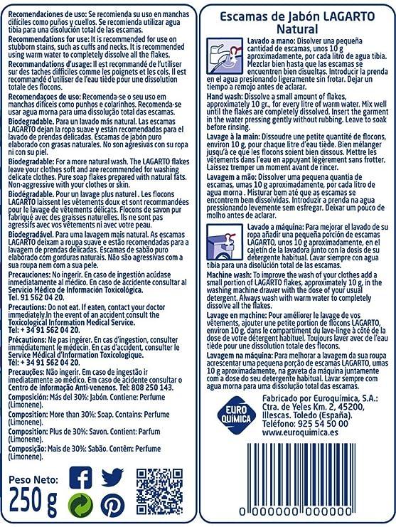 Lagarto Escamas de Jabón Natural - Paquete de 12 x 250 gr - Total ...