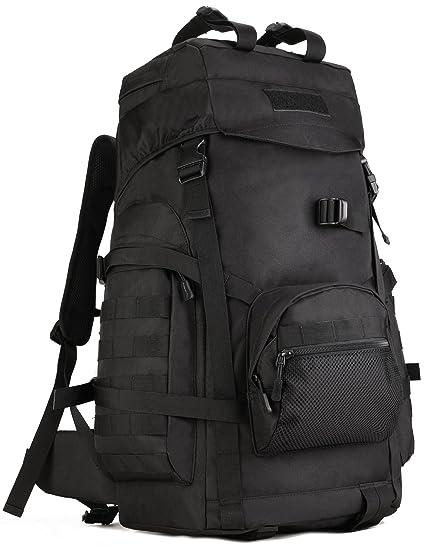 ee5fc9fd35 DCCN Zaino tattico con capienza 60 Litri, Zaino da Escursioni e Trekking con  Strato Antipioggia: Amazon.it: Sport e tempo libero