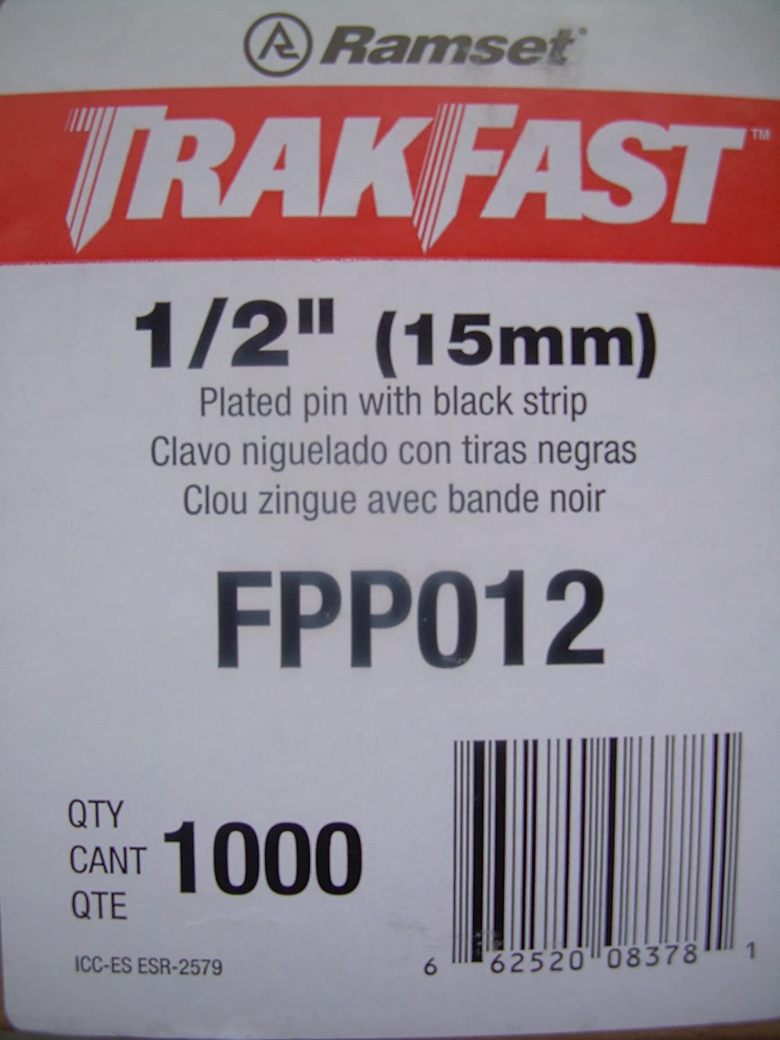 ITW Ramset Red Head FPP012 TrakFast 1//2 Plated Steel Pin Pack with Fuel