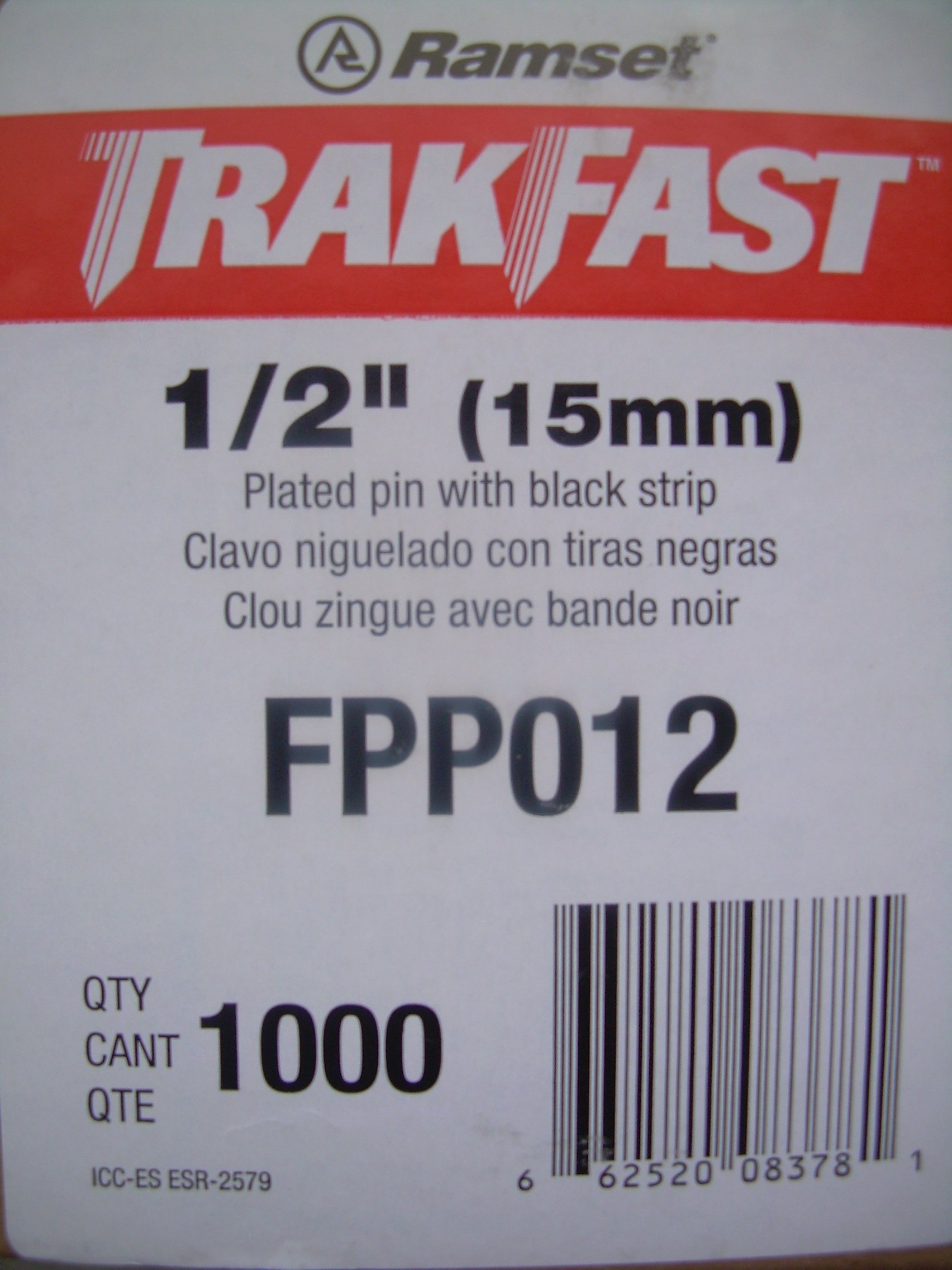 ITW Ramset Red Head FPP012 TrakFast 1/2'' Plated Steel Pin Pack with Fuel