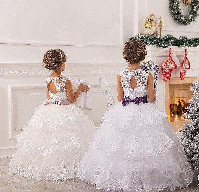 KekeHouse®Flower Girls Dress For Wedding Bowknot Sash Princess Dress ...