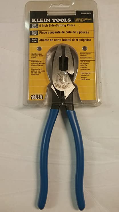 "Klien 9"" Side Cutting - Fish Tape Pulling Pliers"