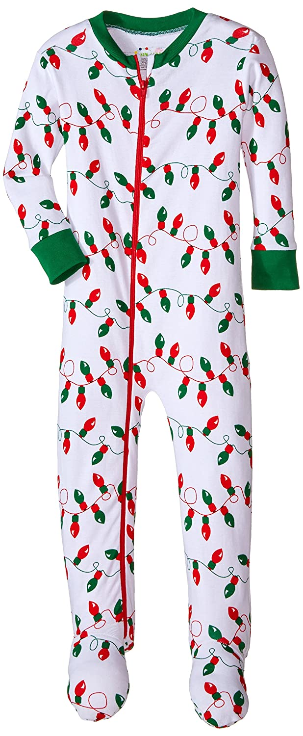 9fa3d8b2f584 Amazon.com  New Jammies Little Boys  Holiday Organic Cotton Footie ...