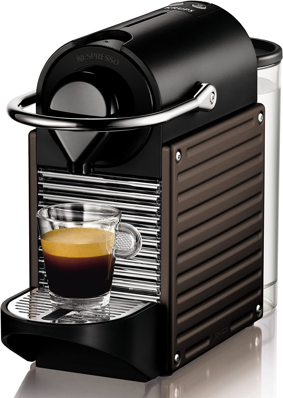 Nespresso Pixie Dark Brown XN3008 Krups - Cafetera monodosis 19 bares, apagado automático, Color marrón oscuro: Amazon.es: Hogar