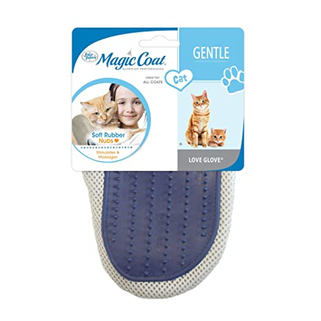 Four Paws Cuatro patas Magic Coat Love guantes CAT Grooming Guante, colores varían