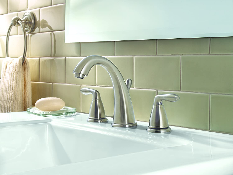 1 Pfister LG49SR0C Serrano 2-Handle 8 Widespread Bathroom Faucet in Polished Chrome