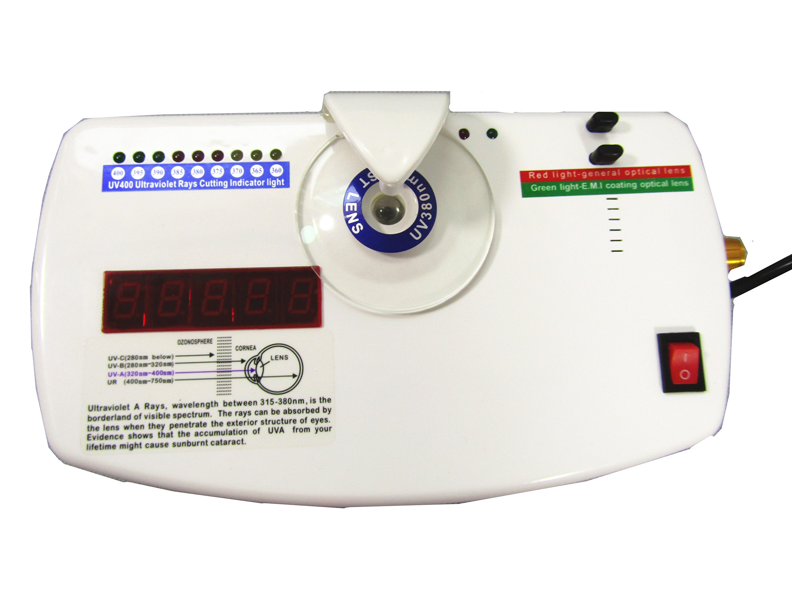 Optical Anti-radiation Ultraviolet Tester Lens UV Tester CP-13B with knob