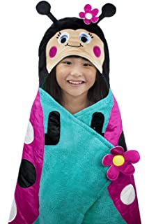 Hooded Towel For Kids, Oversize Cotton Character Hood Towel – Makes Getting Dry Fun -