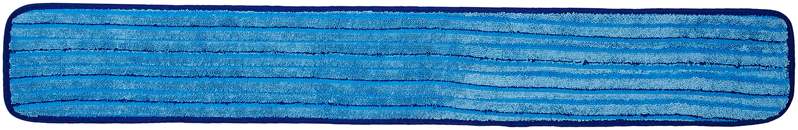 AmazonBasics Microfiber Damp Mop Cleaning Pad with Stripes, 36 Inch, 12-Pack