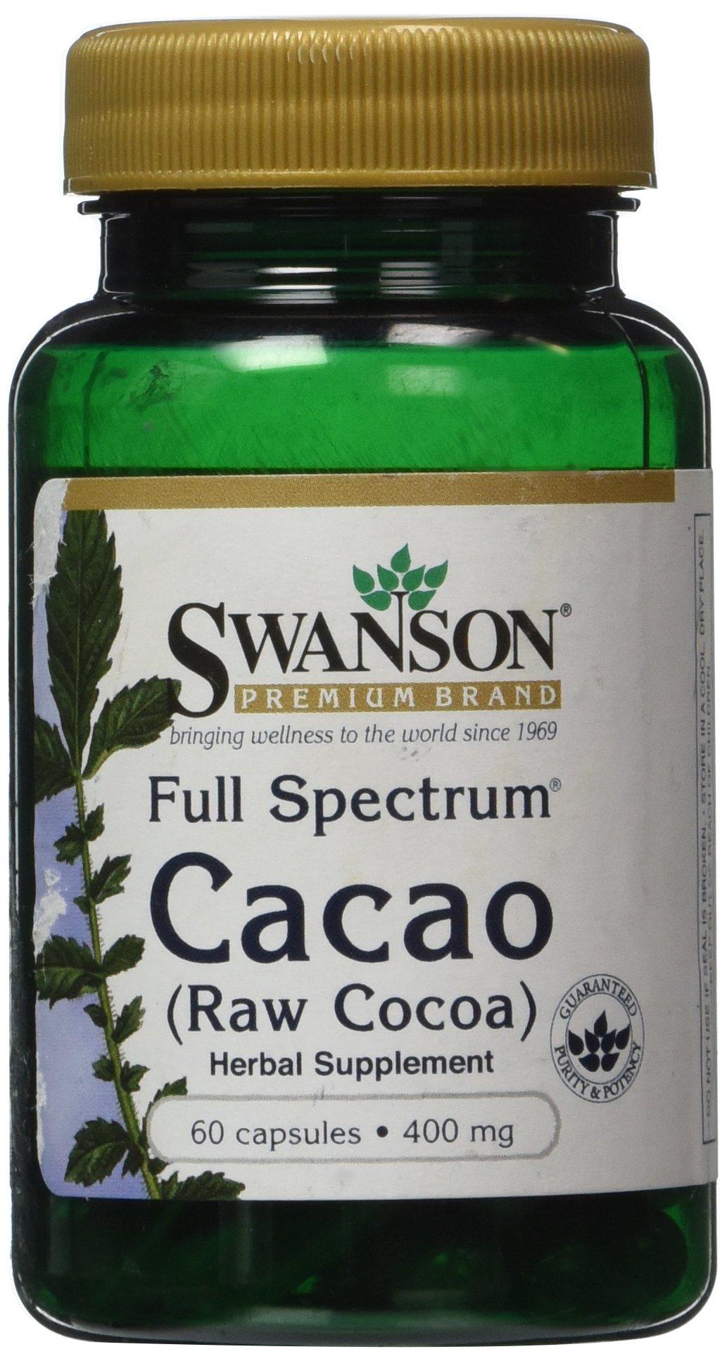 Full Spectrum Cacao (Raw Cocoa) 400 mg 60 Caps
