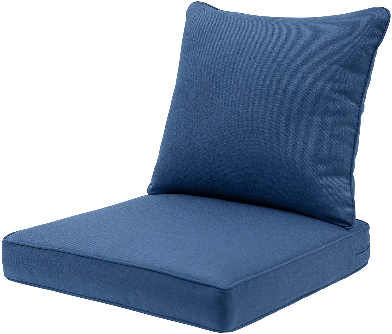QILLOWAY Outdoor/Indoor Deep Seat Chair Cushions Set,All Weather Large Size Replacement Cushion for Patio Furniture. (Blue/Indigo)