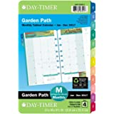 "Day-Timer Monthly Planner Refill 2017, Two Page Per Month, Loose Leaf, 5-1/2 x 8-1/2"", Desk Size, Garden Path (13486)"