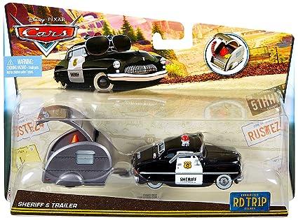 Amazon Com Disney Cars Die Cast Sheriff Trailer Road Trip