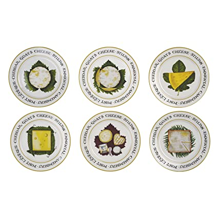 BIA Cordon Bleu Assorted Cheese Plates - Set of 6  sc 1 st  Amazon.com & Amazon.com | BIA Cordon Bleu Assorted Cheese Plates - Set of 6 ...