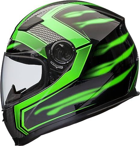 Shox Sniper Skar Motorrad Helm S Grün Auto