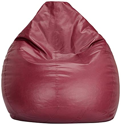 Excellent Buy Frnzgly Xxl Bean Bag Cover With Beans Maroon Machost Co Dining Chair Design Ideas Machostcouk