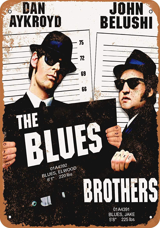 HiSign Blues Brothers Movie Ferro Dipinto placca di Targa in Metallo Metallo Vintage Decorazione della Parete Poster per House Cafe Restaurant Bar