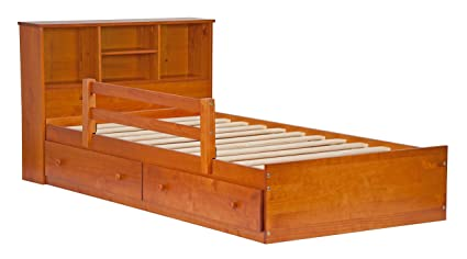 Palace Imports 2434 100% Solid Wood Kansas Mateu0027s Platform Storage Bed Only Color 15  sc 1 st  Amazon.com & Palace Imports 2434 100% Solid Wood Kansas Mateu0027s Platform Storage Bed Only Color 15u201dH x 42u201dW x 76u201dL 12 Slats 2 Drawers Included. Optional ...
