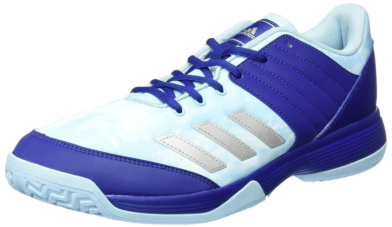 adidas Ligra 5, Chaussures de Volleyball Femme, Bleu (Mystery Ink/Silver Metallic/Footwear White), 37 1/3 EU