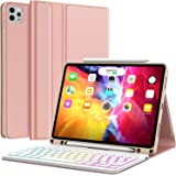 Keyboard Case for iPad Pro 11 2020 2nd Generation, iPad Pro 11 Case with Keyboard 2018-7 Backlight & Detachable - with Pencil