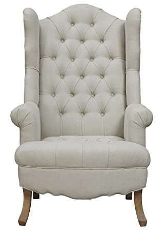 TOV Furniture The Madison Collection Comfortable Velvet Fabric Upholstered  Wood Living Room Accent Wing Chair,