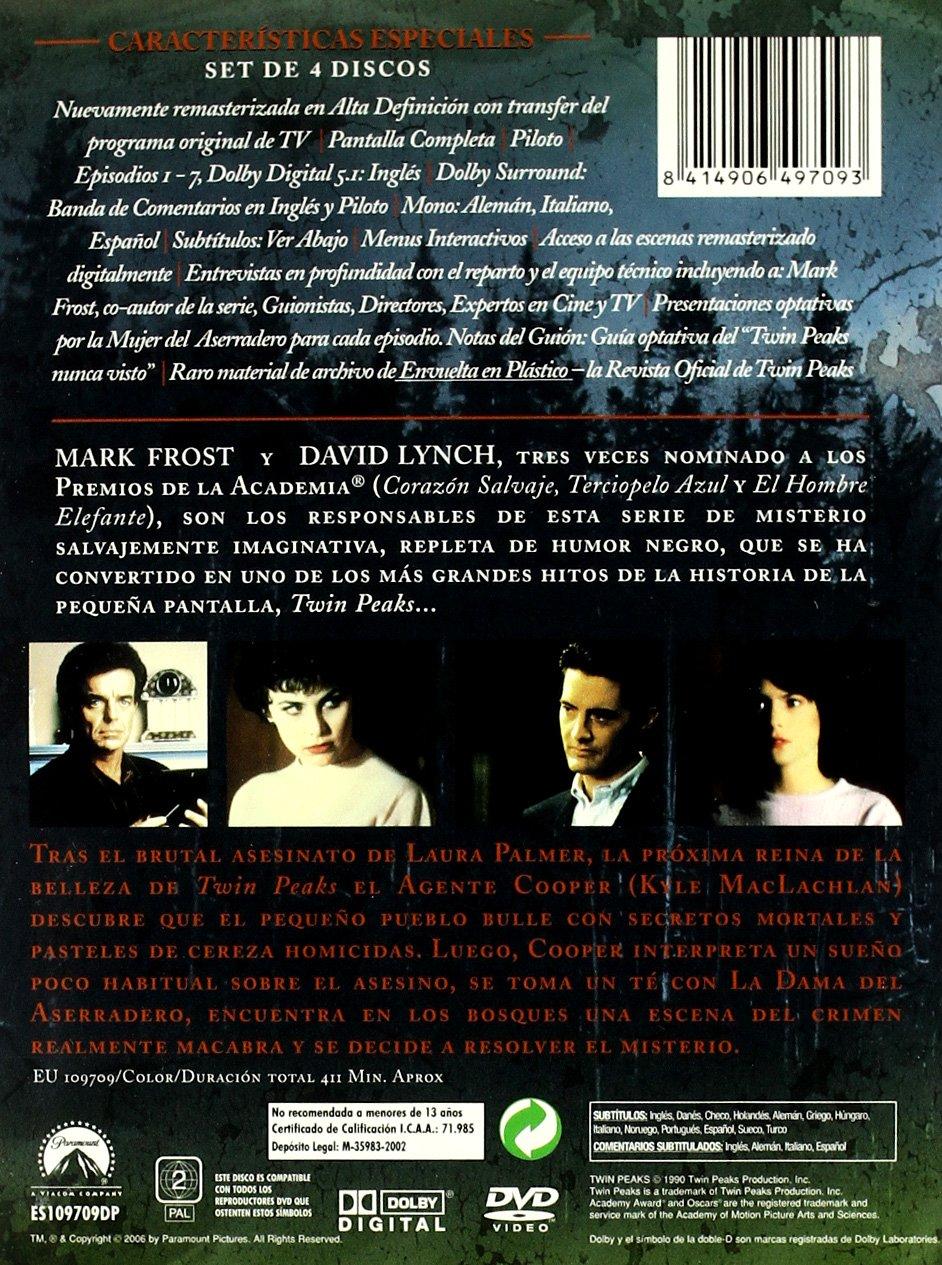 Twin Peaks (1ª temporada) E. E. [DVD]: Amazon.es: Kyle Maclachlan, Michael Ontkean, Sherylyn Fenn, Richard Beymer, Lara Flynn Boyle, Madchen Amick, ...