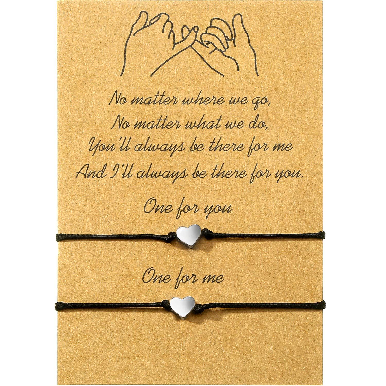 WILLBOND Promise Friendship Bracelet for Friend Couple Family Girlfriend Boyfriend Women