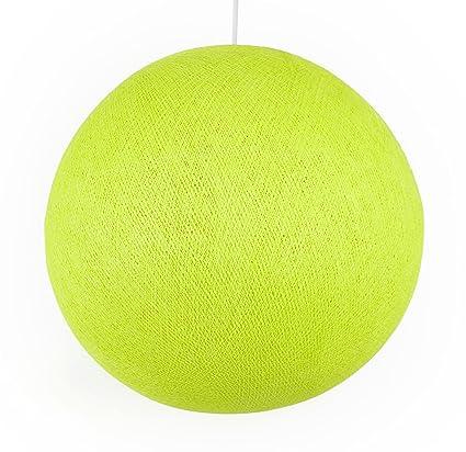 Auténticas Lámparas De Techo Cable & Cotton® con Bola En Color Verde Anaís - con Una Esfera De 38 Cm De Diámetro Que Iluminará Su Hogar