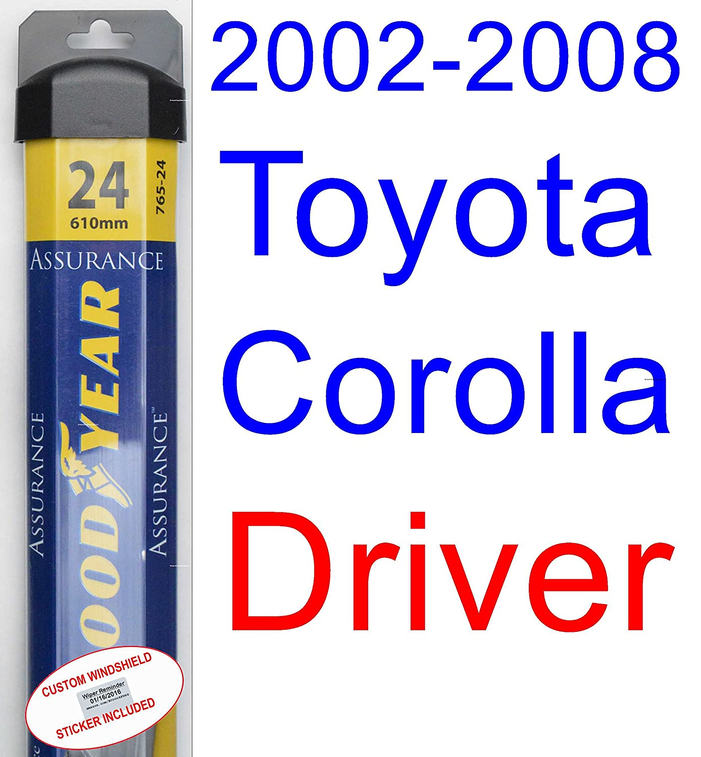 2002 2008 Toyota Corolla Le Wiper Blade Passenger 2007 Saturn Outlook Engine Diagram Goodyear Blades Assurance 20032004200520062007 Automotive