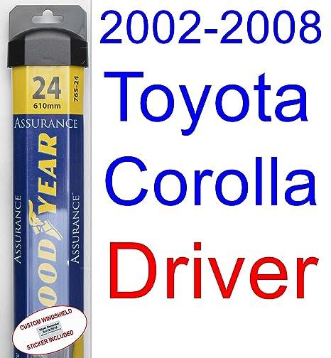 2002 – 2008 Toyota Corolla S hoja de limpiaparabrisas de repuesto Set/Kit (Goodyear