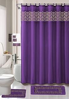 18 Piece Elegant Bathroom Set 2 Rugs Mats 1 Contour Rug