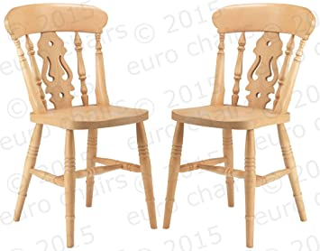 COUNTRY FARMHOUSE FIDDLEBACK CHAIR: RAW WOOD FOR HOME FINISHING: A Classic  Farmhouse Chair Made