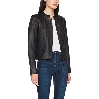 SELECTED FEMME Sfhannah Leather Jacket Noos Chaqueta para Mujer: Ropa y accesorios