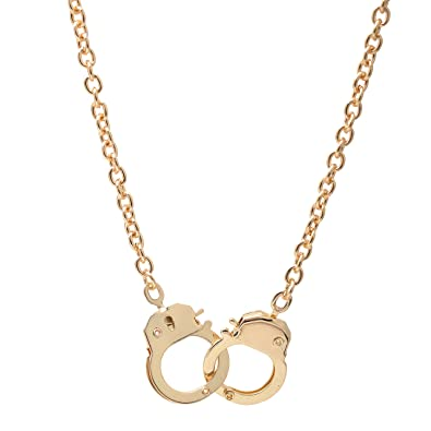 Amazon chelseachicnyc high gloss lockable handcuff necklace amazon chelseachicnyc high gloss lockable handcuff necklace gold jewelry aloadofball Image collections