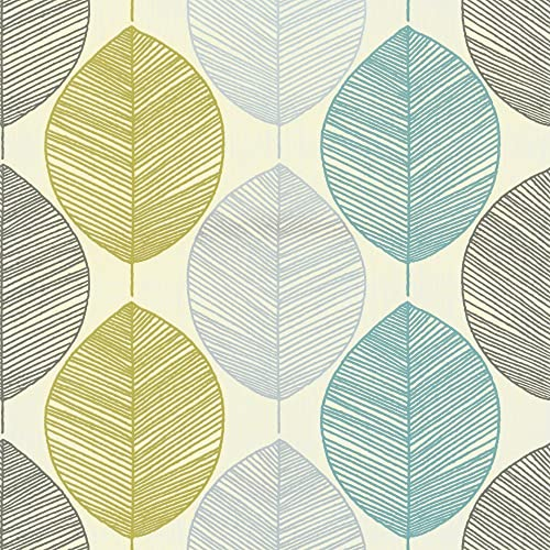 Arthouse Wallpaper Retro Leaf Teal 408207 Full Roll