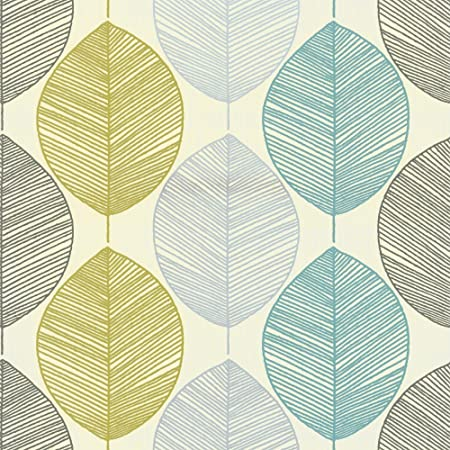 Arthouse Wallpaper Retro Leaf Teal 408207 Full Roll Amazoncouk