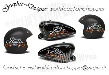 Pegatinas Decal Stickers Kit de depósito + 2 de casco Harley Davidson Moto Custom