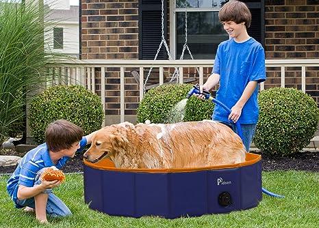 Amazon.com: Pidsen Foldable Dog Pet Bath Pool Pet Swimming Tub ...