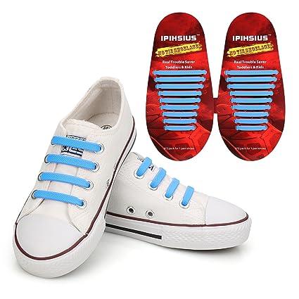 2d99b8a25230b iPihsius - Cordones de Silicona para Zapatos sin Corbata para Niños y  Adultos