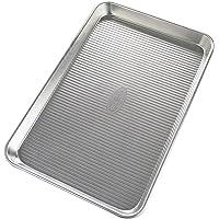 USA PAN 1040JR-BB-2-1 Bare Aluminum Jelly Roll Pan, 14.25x9.5, Metal